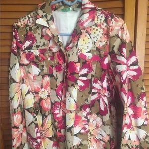 Laura Ashley Pink Floral Blazer
